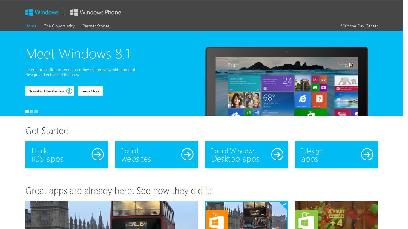 Microsoft: 100 tys. aplikacji w Windows Store