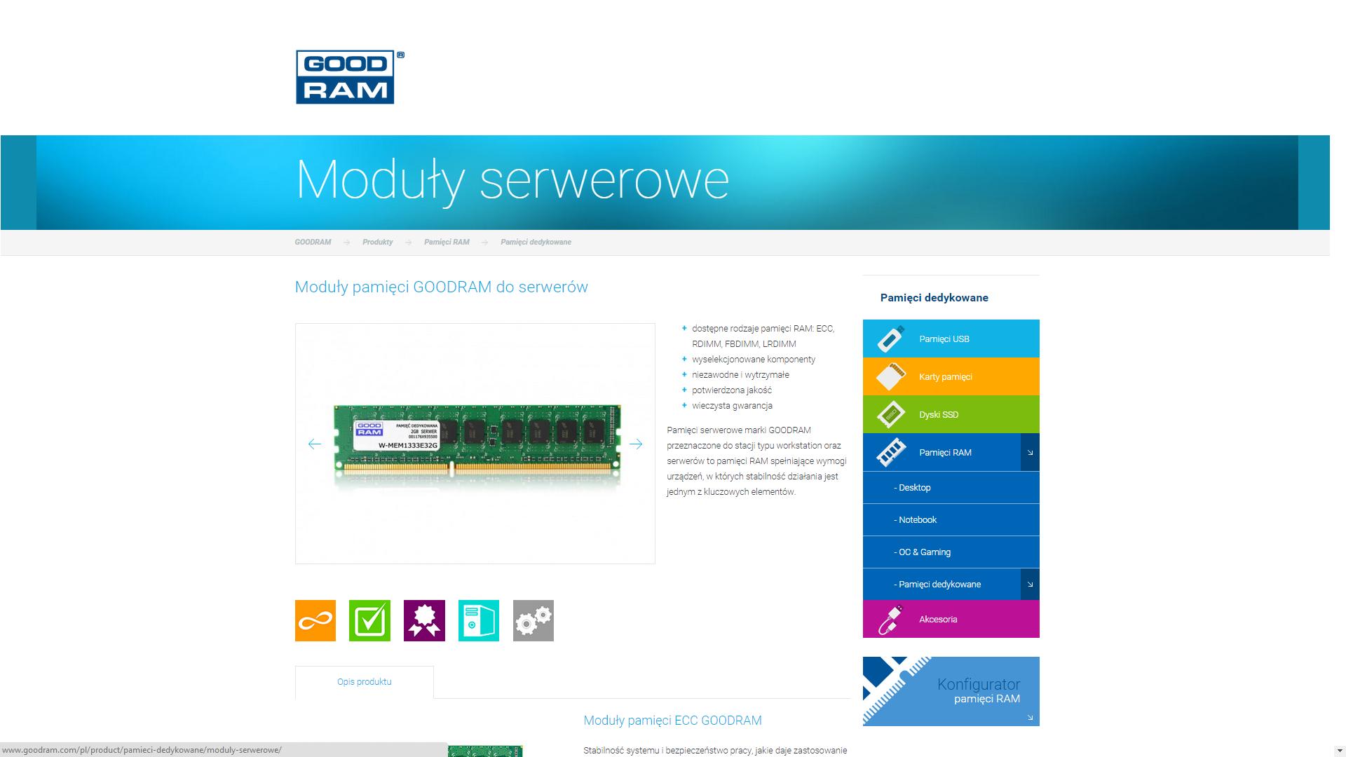 Wilk zaopatrzył serwery Action w DDR4