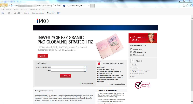 Klienci PKO BP atakowani