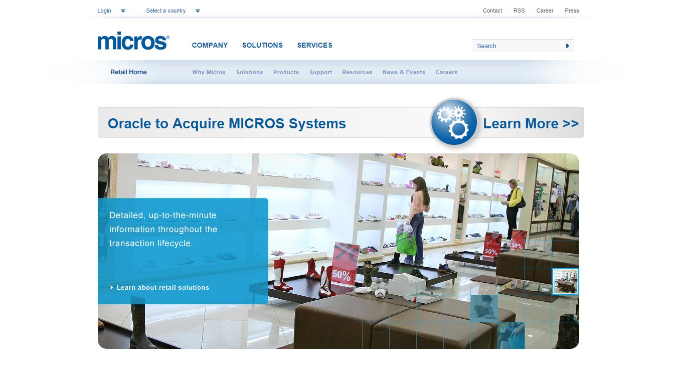 Oracle sfinalizował megatransakcję, Micros Systems przejęty