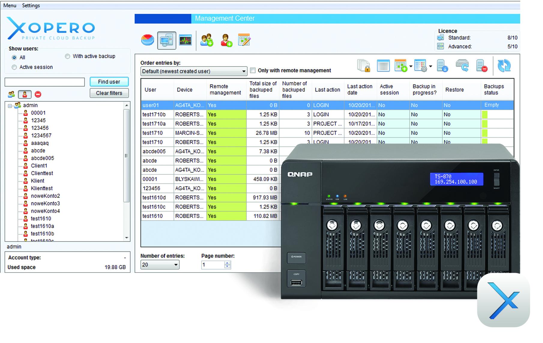 Xopero – kompleksowy backup na serwerze QNAP