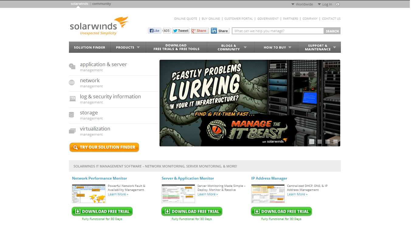 SolarWinds w Connect Distribution