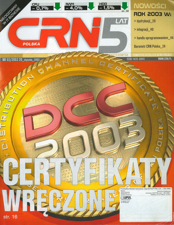 Certyfikaty wręczone