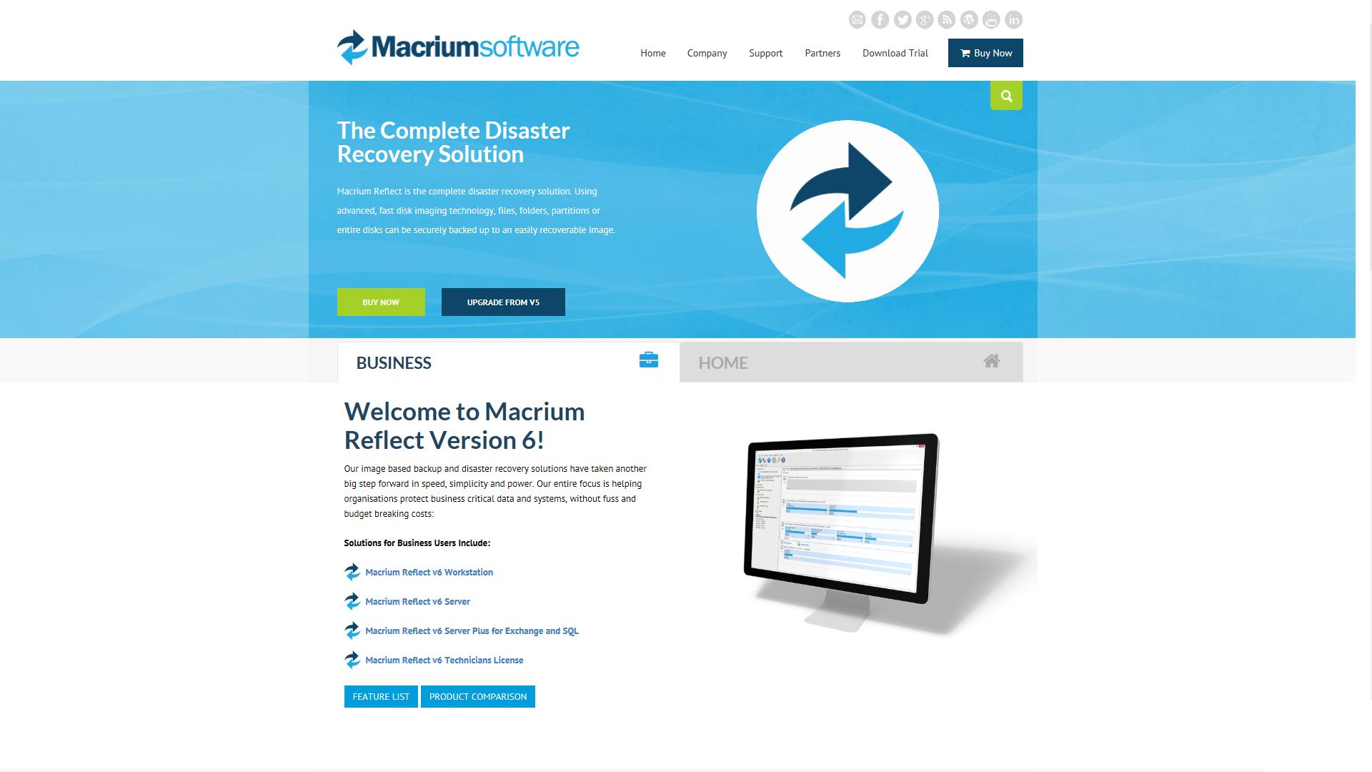 Prianto dystrybutorem Macrium Software