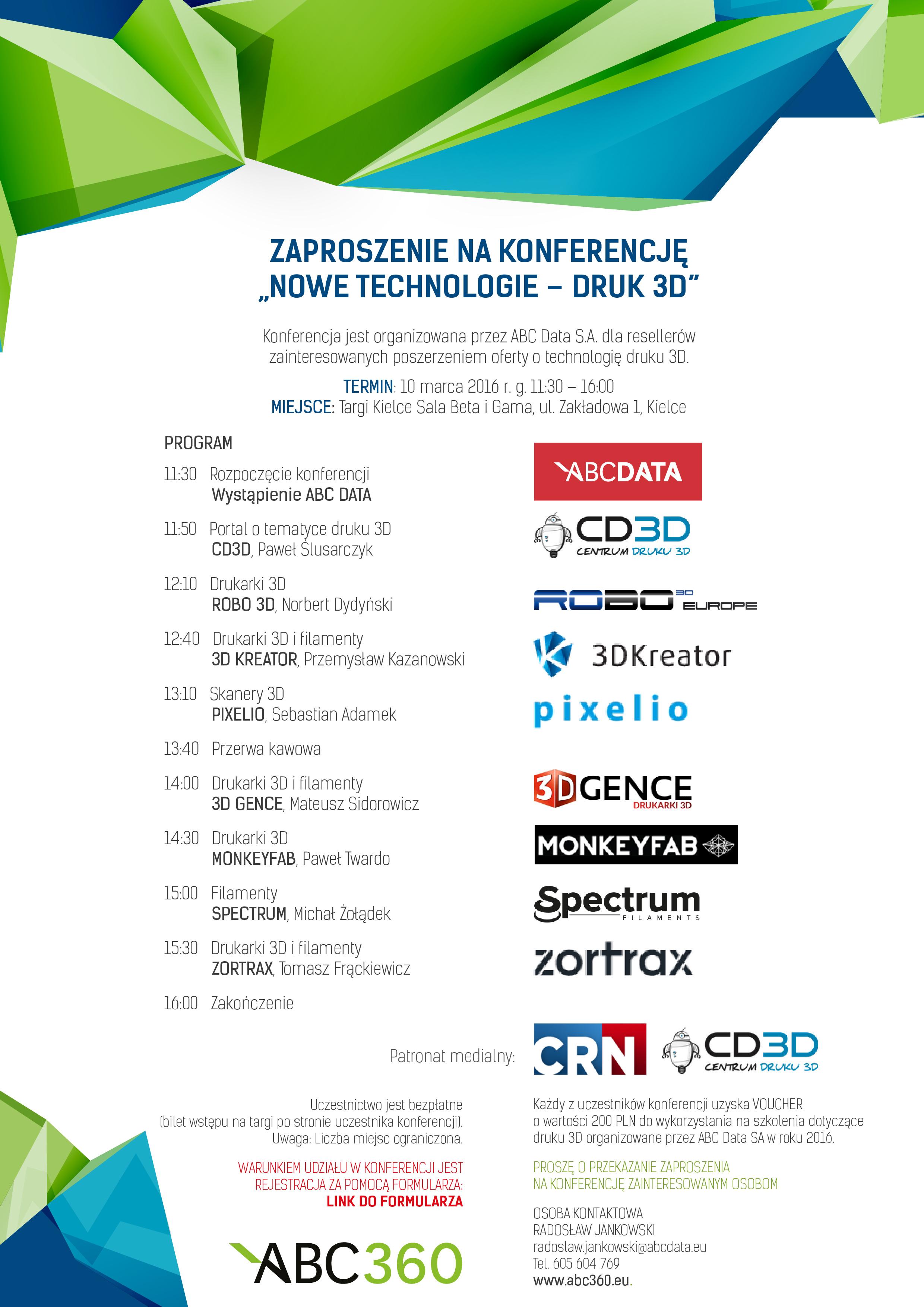 ABC Data: konferencja dla resellerów o druku 3D