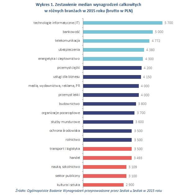 Raport: zarobki w branży IT w 2015 r.