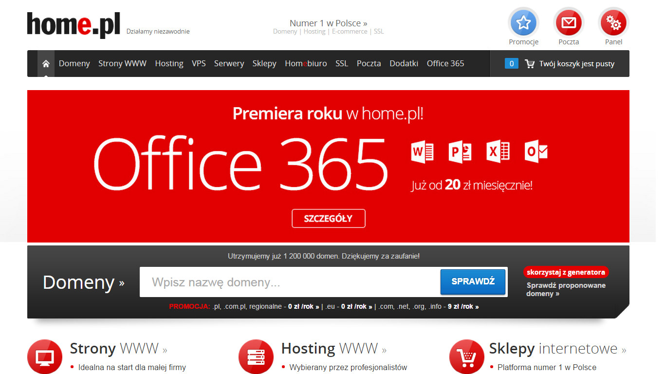 Office 365 w home.pl