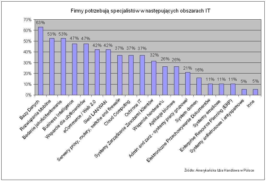 Najbardziej poszukiwani specjaliści IT w Polsce