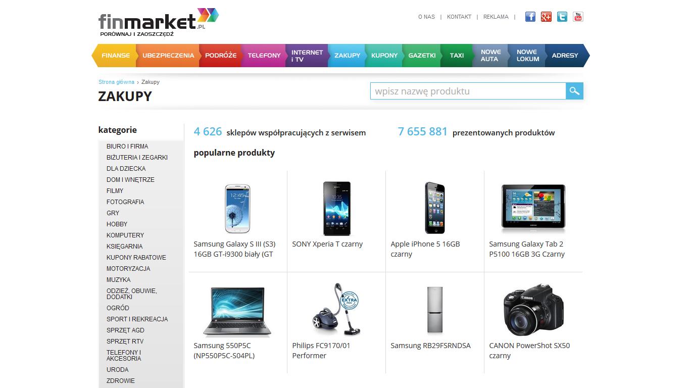Finmarket.pl – nowy serwis z e-zakupami