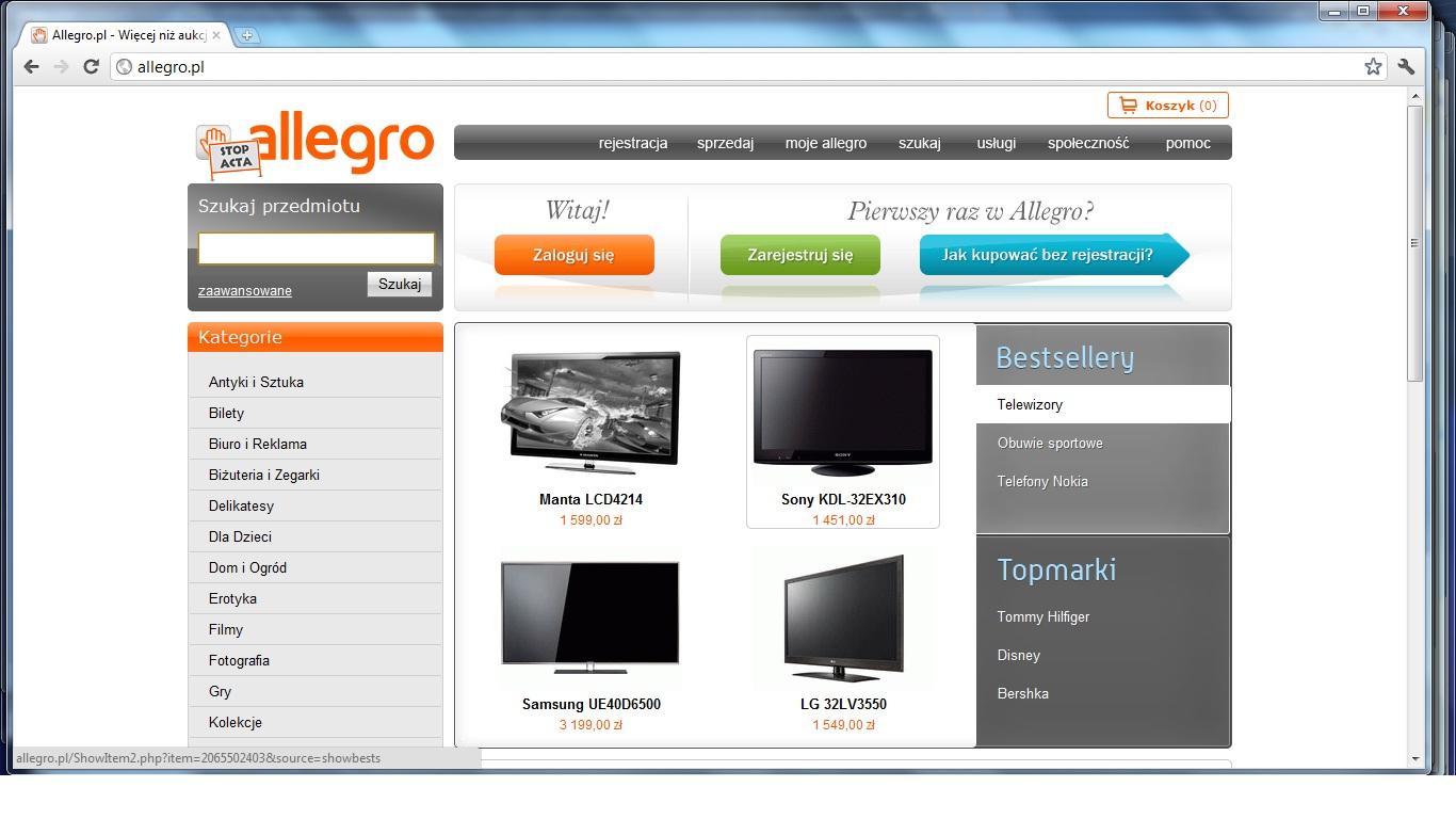 Izba Skarbowa w sprawie kontroli Allegro: wykonawca zrezygnował