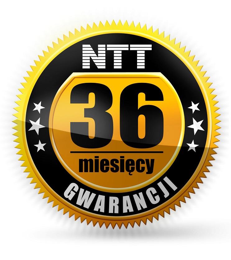 3 lata gwarancji od NTT
