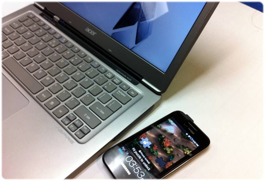 Ultrabooki naładują telefony