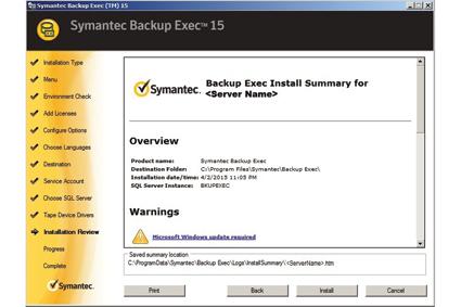 Kopie zapasowe i odzyskiwanie danych z Backup Exec 15