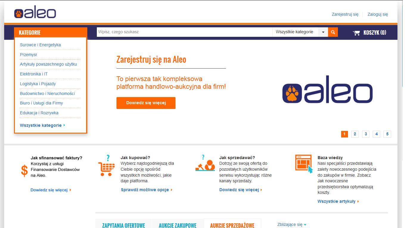 Aleo: nowy serwis handlowy dla firm
