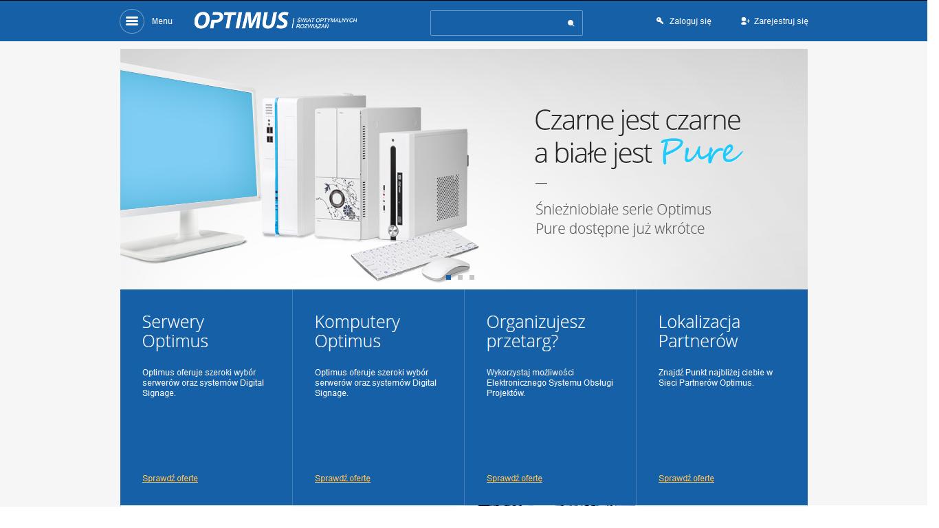 Optimus z nową stroną www