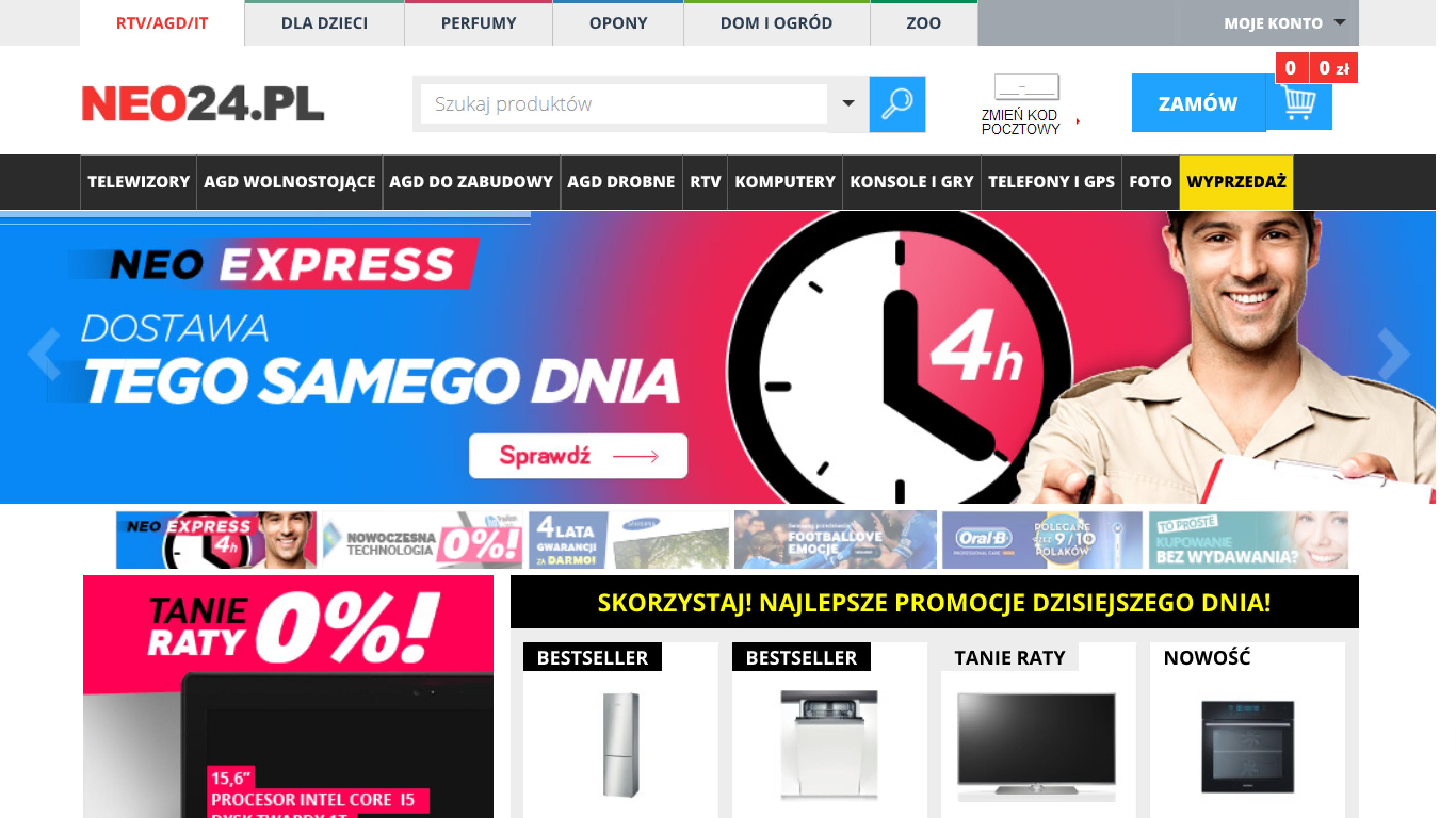 Neo24.pl wprowadza ekspresową dostawę