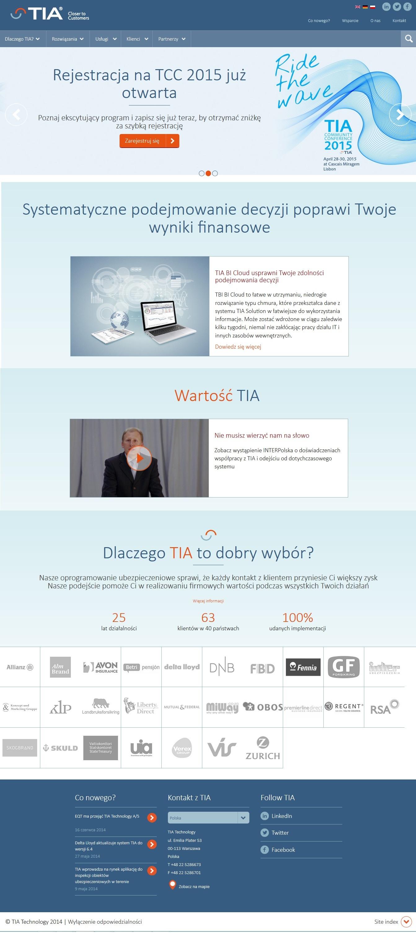 TIA Technology uruchomiła stronę po polsku
