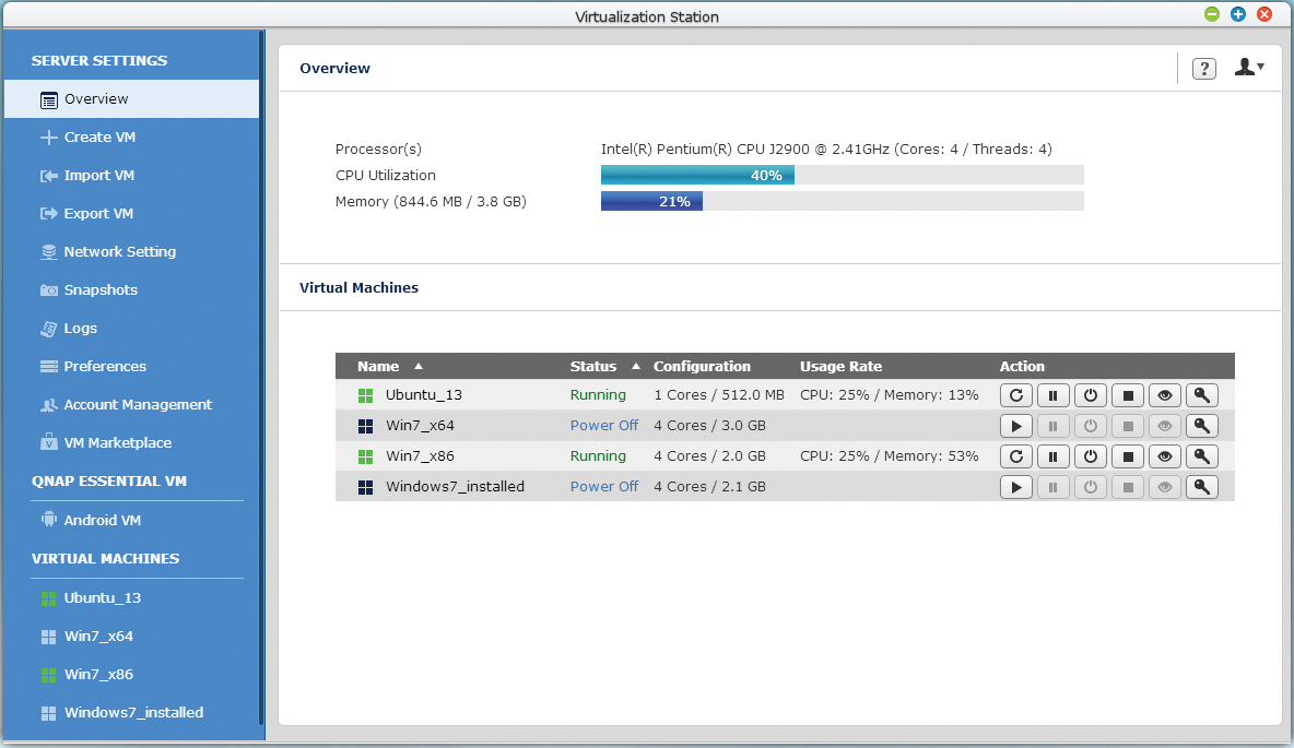 Profesjonalne oprogramowanie w serwerach QNAP
