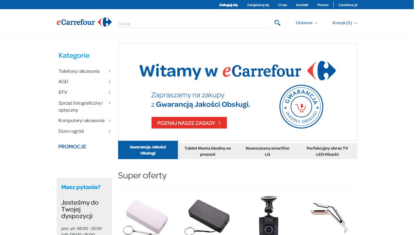 Carrefour uruchomił e-sklep z elektroniką