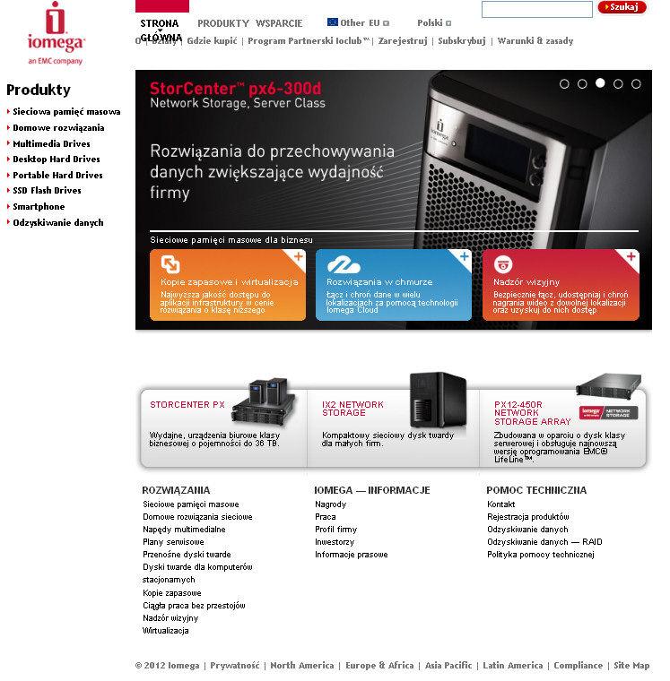 Iomega – nowa odsłona strony internetowej