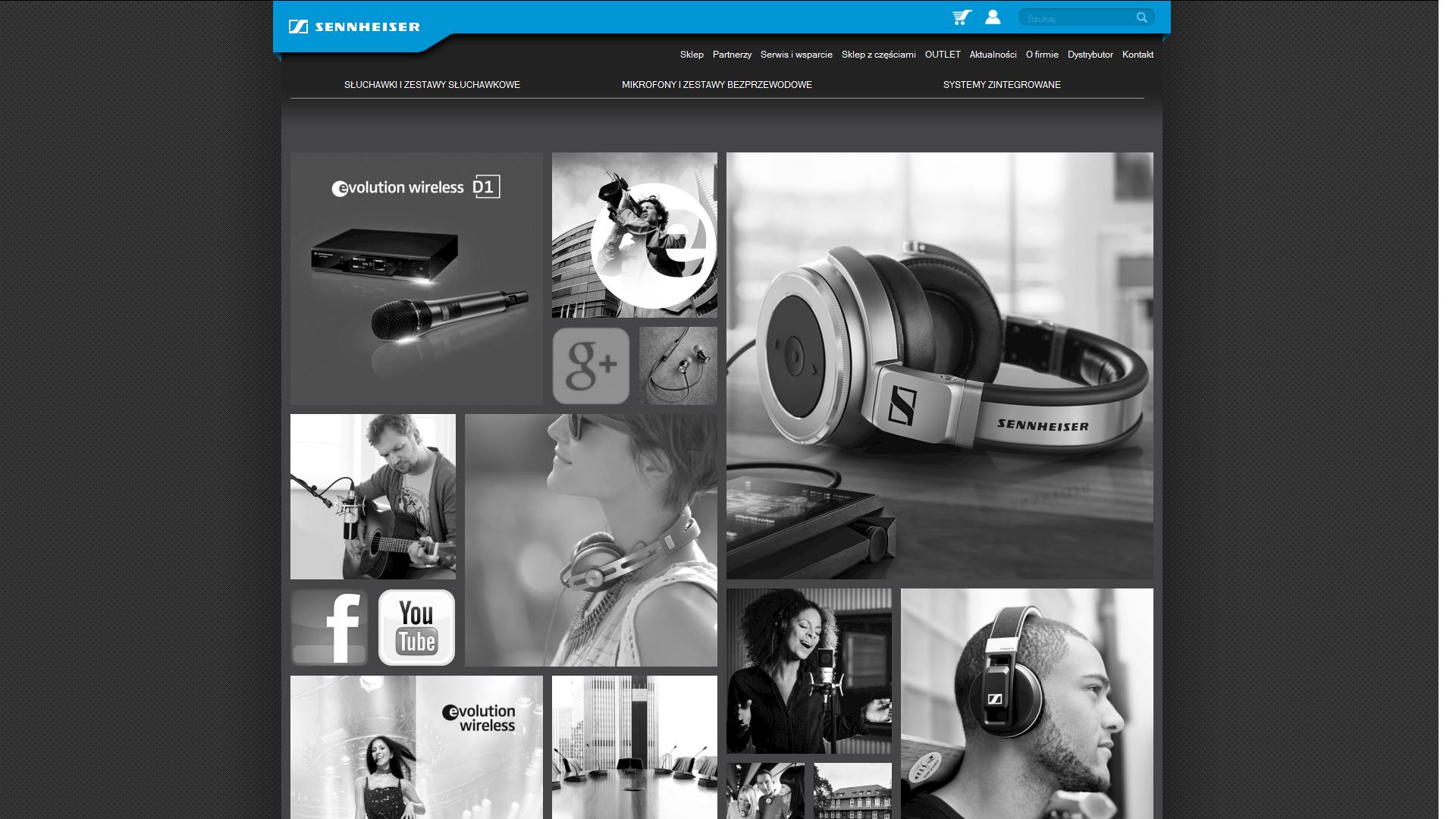 Nowa strona Sennheisera z e-sklepem