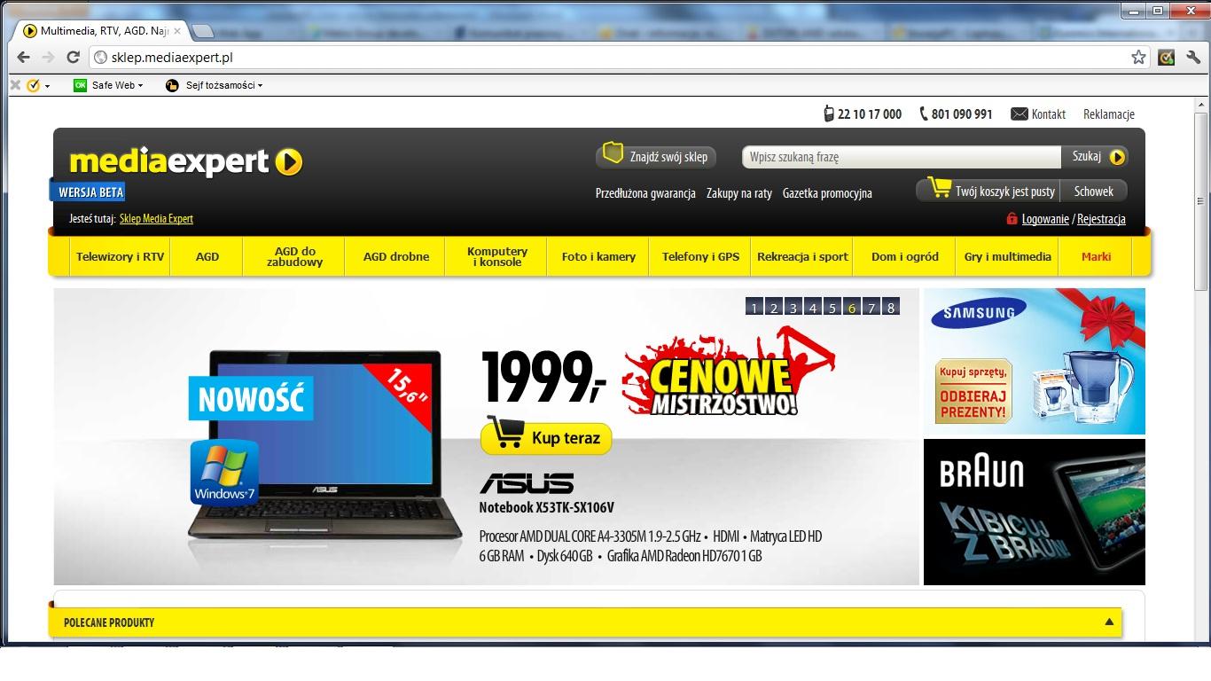 Media Expert otworzył sklep internetowy