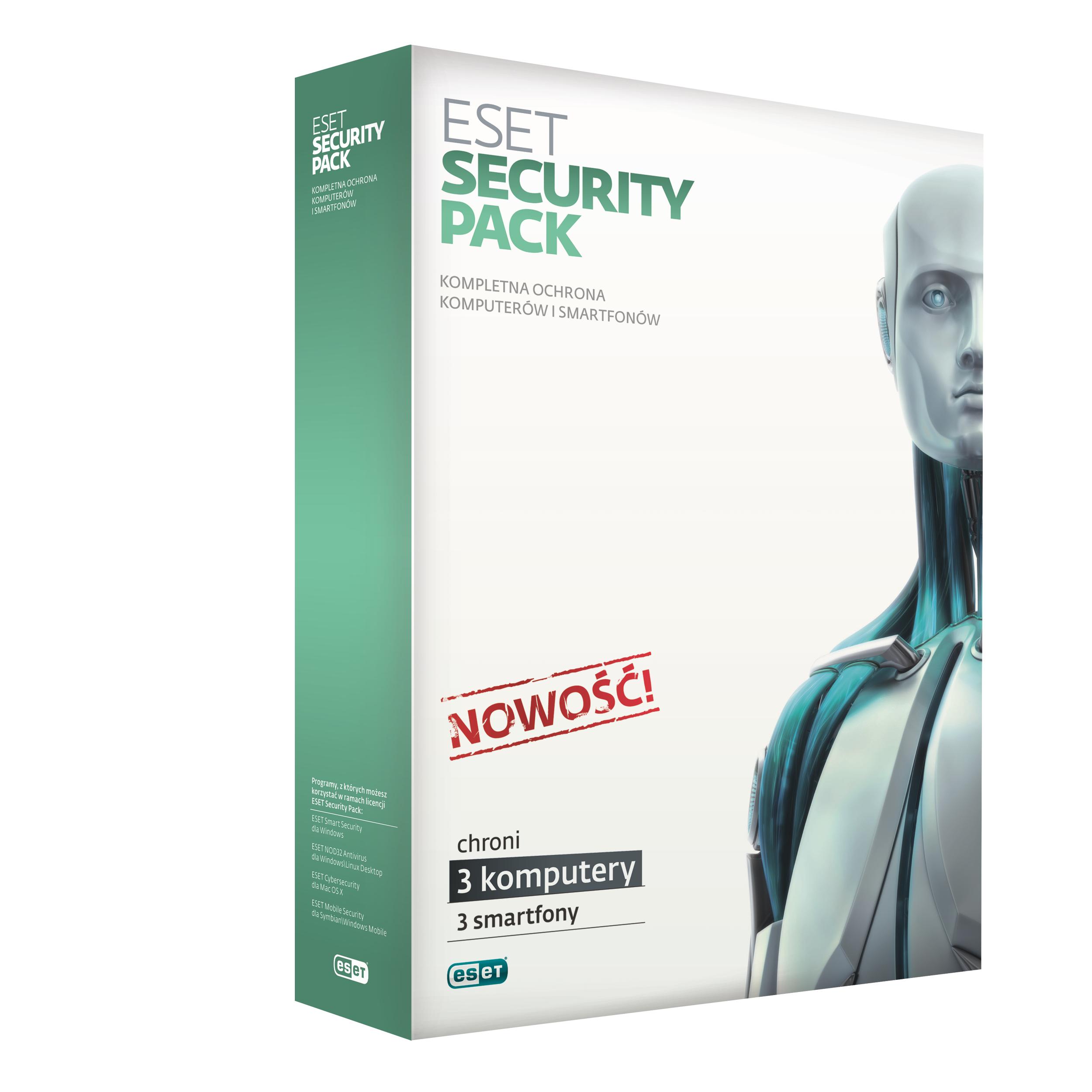 Eset: pakiet bezpieczeństwa na 3 komputery i 3 smartphony