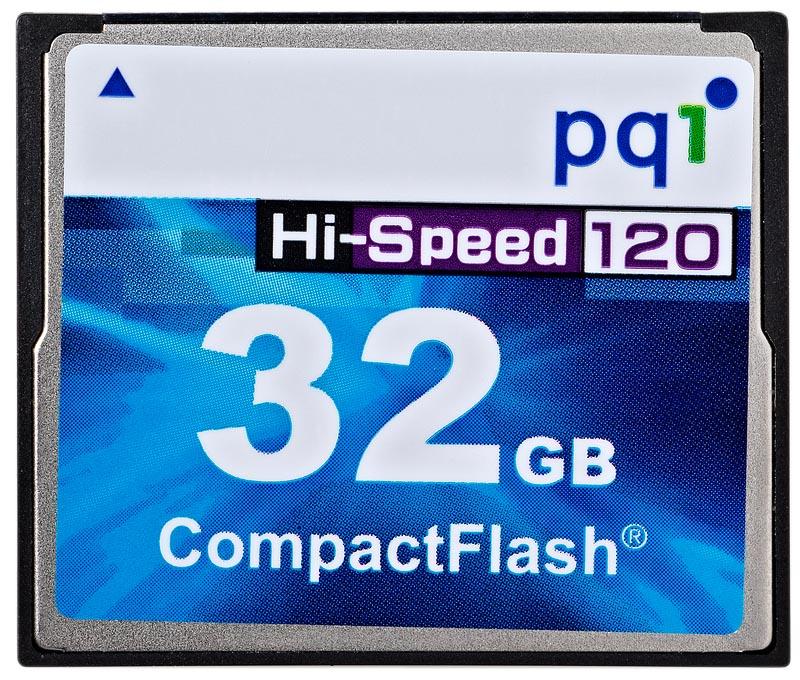 PQI CF 32GB Hi-Speed 120x AC80-3230R01F7