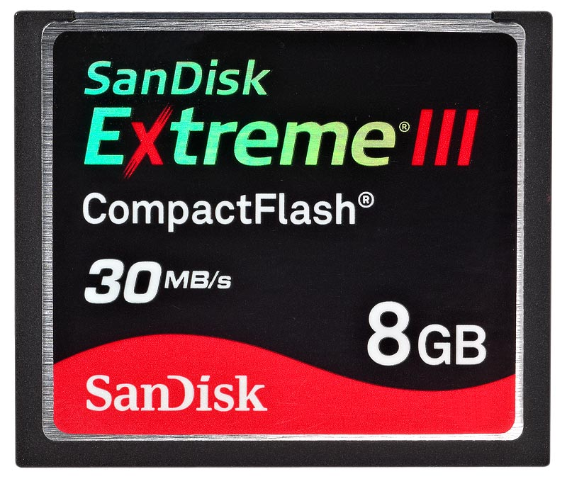 SanDisk CF Extreme III 8GB SDCFX3-008G-E31 200x