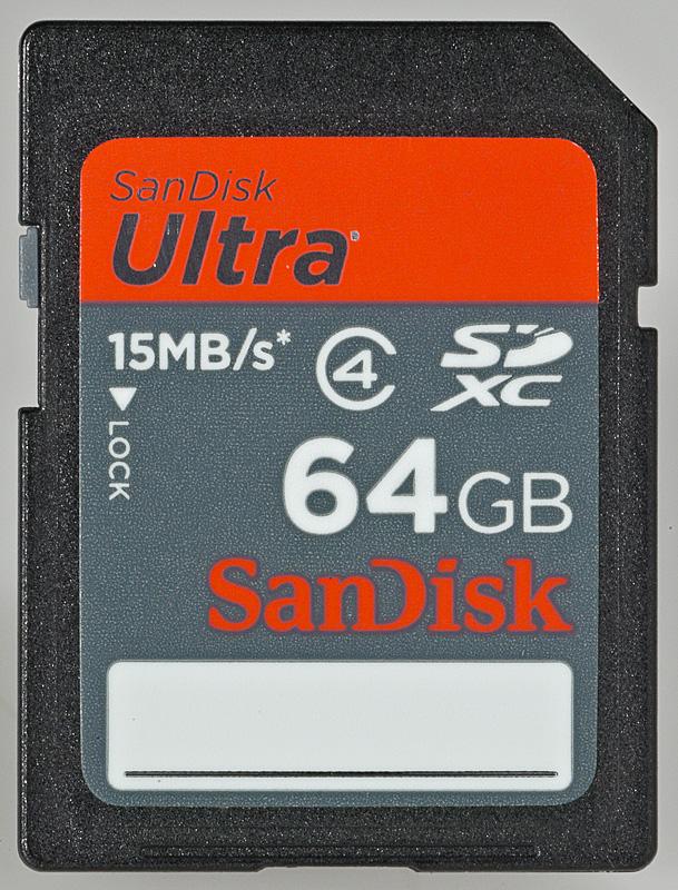 SanDisk SDXC Ultra 64GB class 4