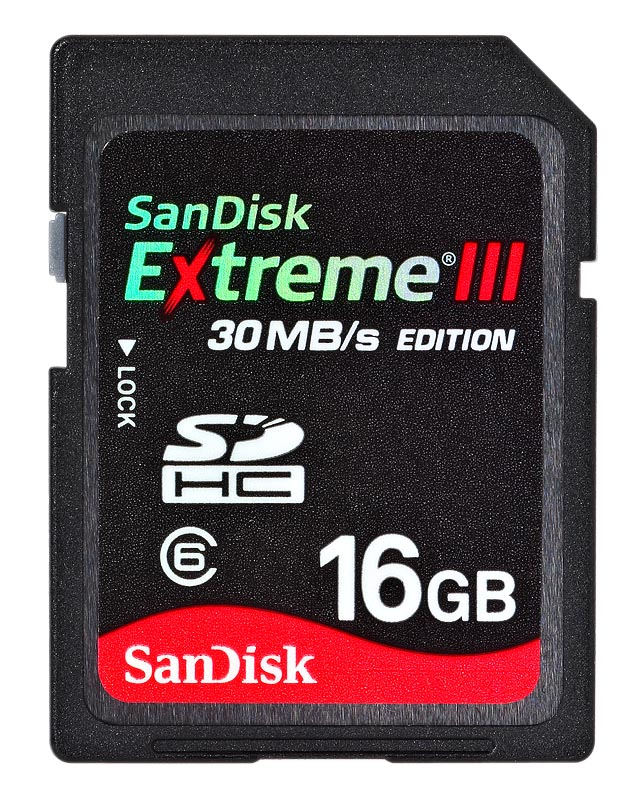 SanDisk SDHC Extreme III 16GB class 6