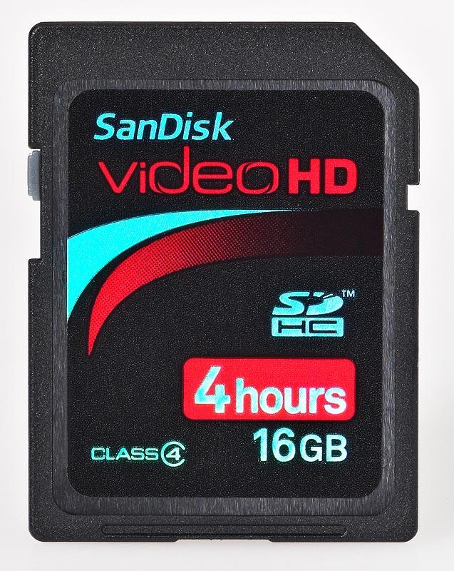 SanDisk SDHC HD Video 16GB  class 4