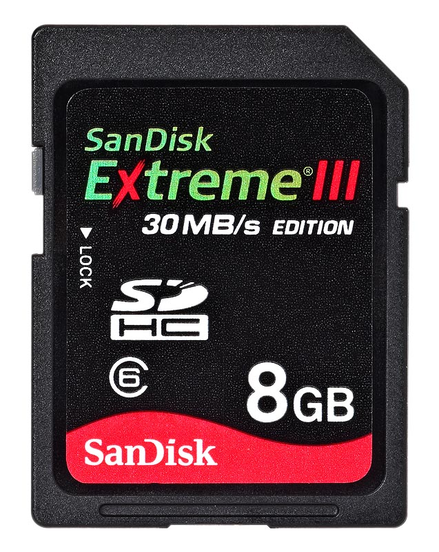 SanDisk SDHC Extreme III 8GB   class 6