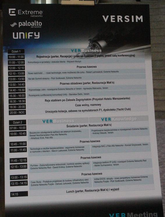 Spotkanie partnerów Extreme Networks zorganizowane przez VERSIM w Jachrance