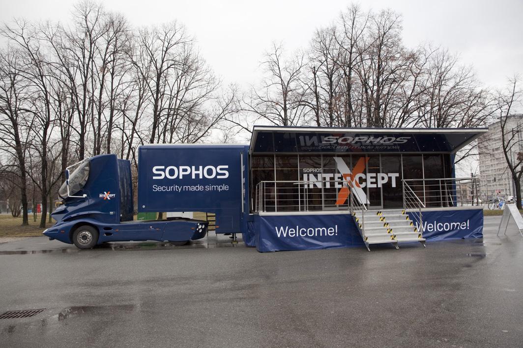 Sophos Truck: showroom na kółkach
