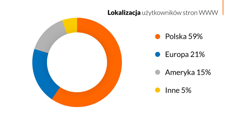 Aż 41% ruchu w polskim Internecie pochodzi z zagranicy