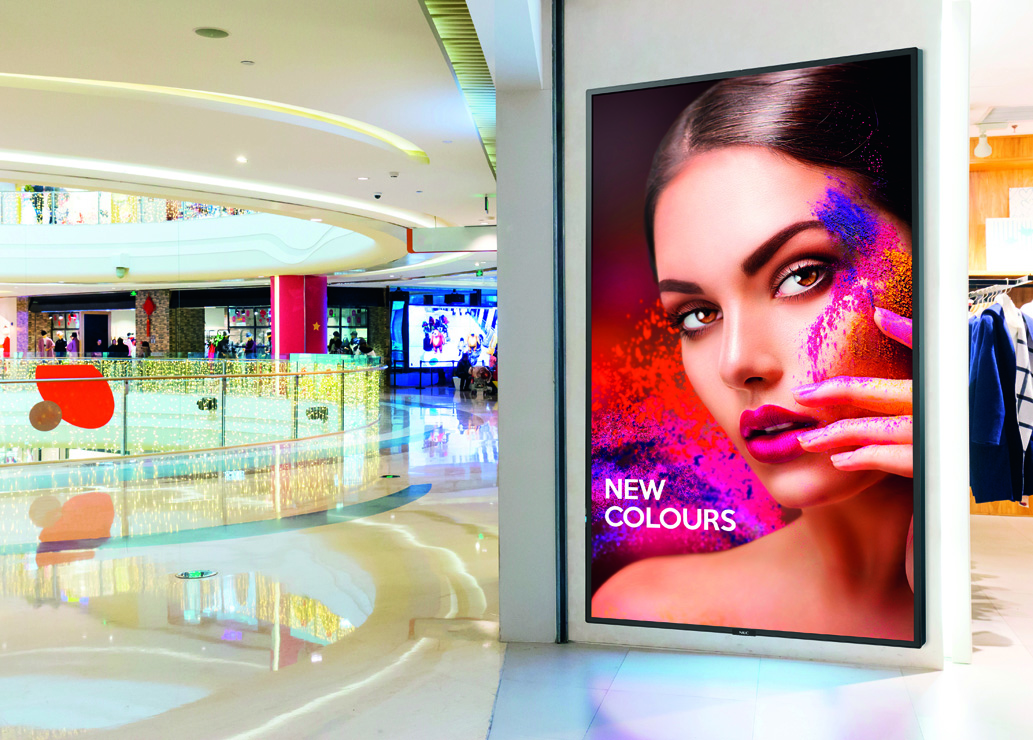 Monitory NEC do systemów Retail Signage
