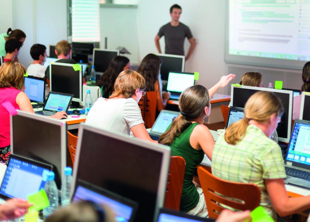 Uczniowie w interaktywnym świecie