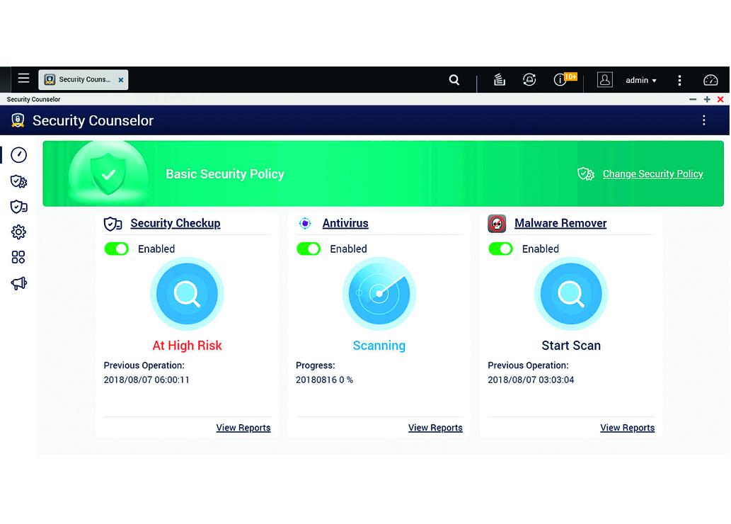 Chronione dane na serwerach QNAP
